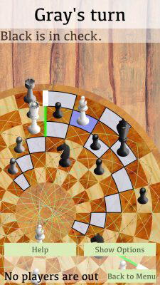 Bishop Movement and Kig in Check - 3 Man Chess on IOS